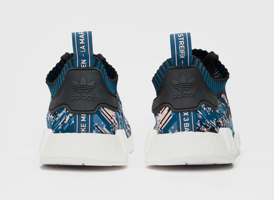 separation shoes fff25 ccdce adidas NMD R1 Datamosh 2.0 Core Black Blue Night