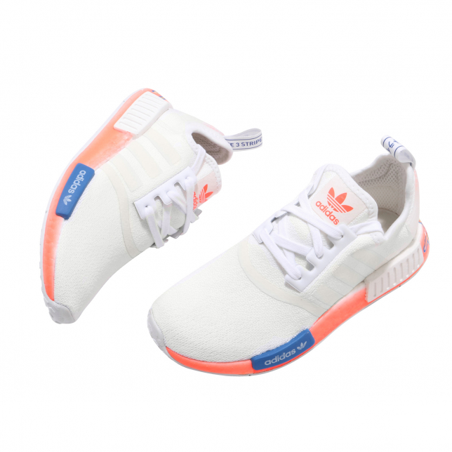 Adidas Nmd R1 Cloud White Orange Blue Kicksonfire