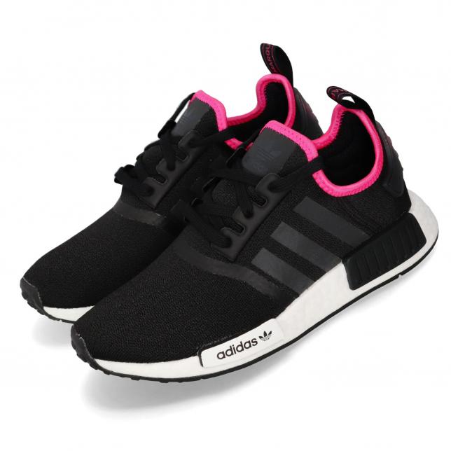 Adidas Nmd R1 Core Black Shock Pink Kicksonfire