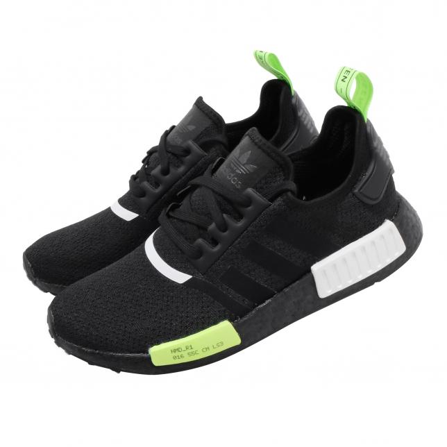 Adidas Nmd R1 Core Black Signal Green Kicksonfire