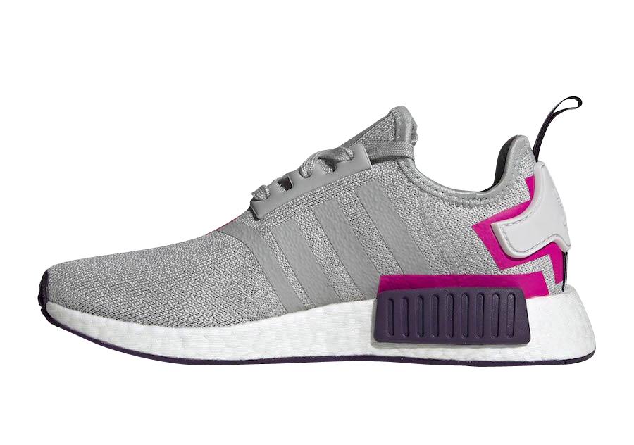 Adidas Wmns Nmd R1 Grey Shock Pink Kicksonfire
