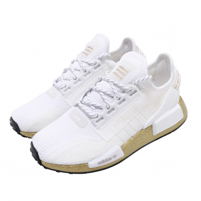 Adidas Wmns Nmd R1 V2 Cloud White Gold Kicksonfire
