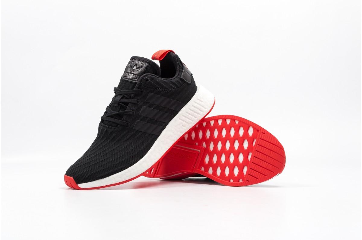 reputable site 24798 95da3 adidas NMD R2 Core Black Red