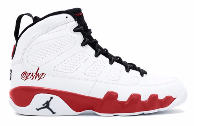 separation shoes 4968a a7e18 BUY Air Jordan 9 White Red   Kixify Marketplace