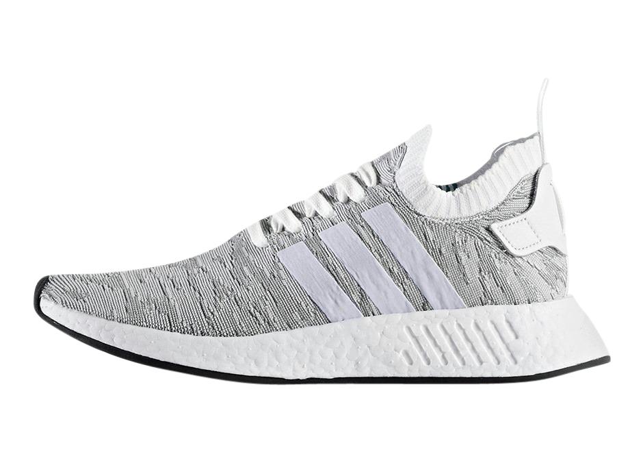 Buy Adidas Nmd R2 Primeknit Grey White Kixify Marketplace