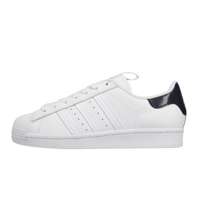 adidas superstar dark blue and white