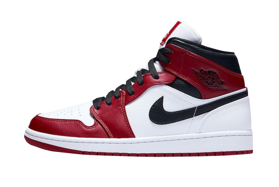 Buy Air Jordan 1 Mid Chicago White Heel Kixify Marketplace