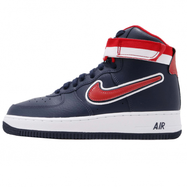 Buy Nike Air Force 1 High Sport Midnight Navy University Red