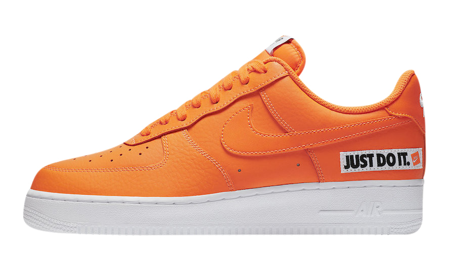 air force 1 just do it blanche orange