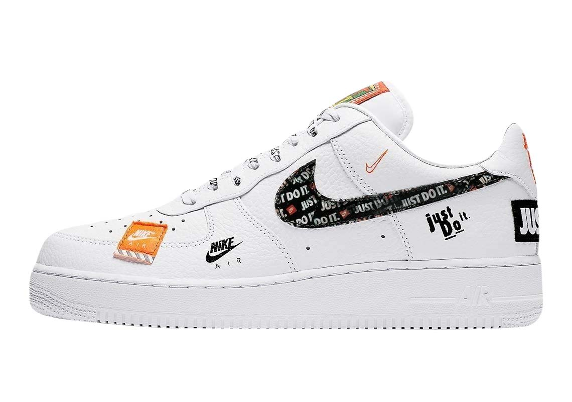 BUY Nike Air Force 1 Low Just Do It Black   Kixify Marketplace