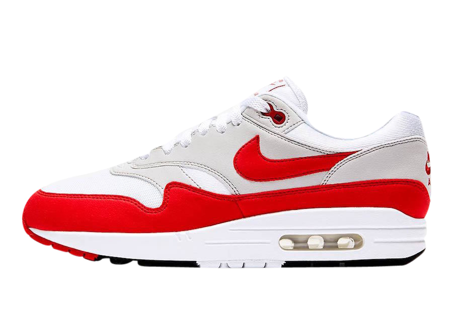 air max 1 red white and grey