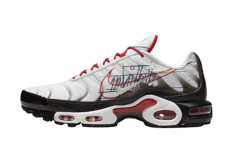 Buy Nike Air Max Plus White University Red Kixify Marketplace