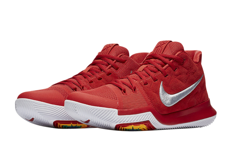 kyrie 3 white red
