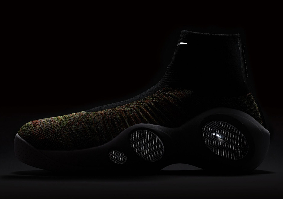 Highlighted by the multicolor Flyknit that dominates the upper, this Zoom  Flight Bonafide also features hits of Black on the sock-like ankle as well  as ...