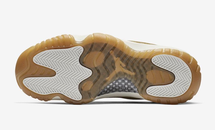 Women/'s Nike Air Jordan 11 Retro Neutral Olive Gum Light Brown AR0715-200 Size 9