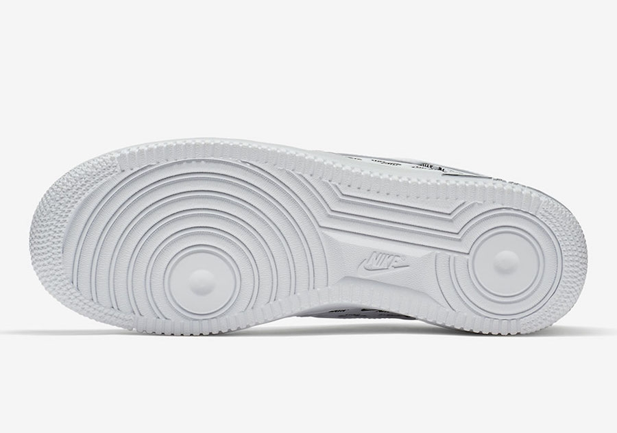 Nike Air Force 1 Low All Over Logo White