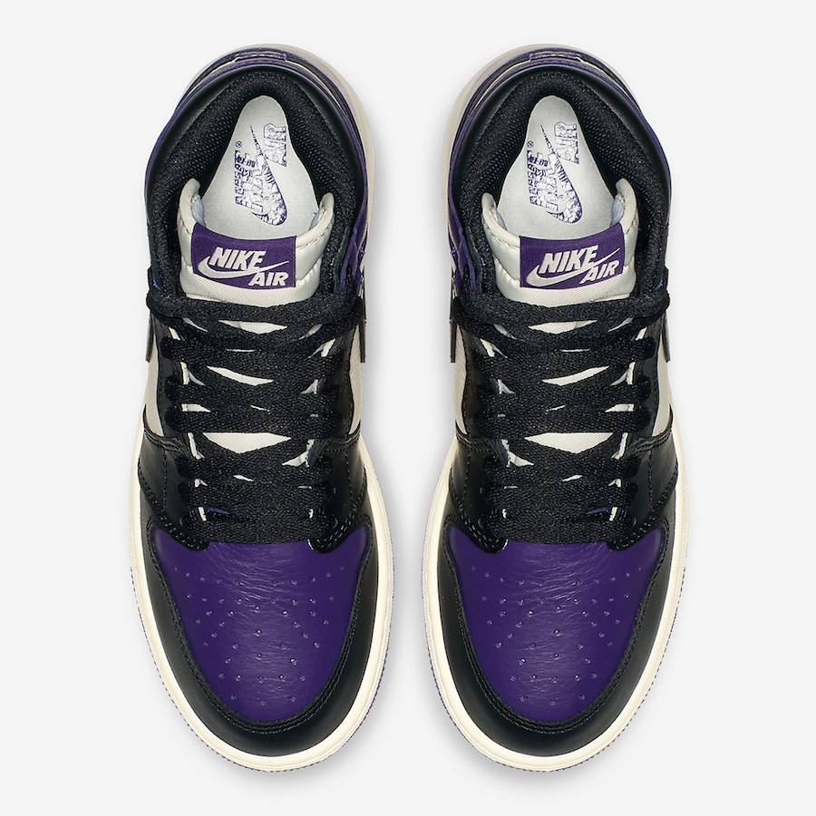 Air Gs Purple 1 Jordan High Retro Og Court LSMVjUpqzG