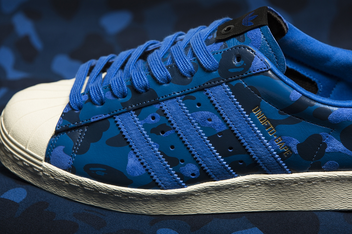 adidas Superstar 80s Undftd Bape Blue Camo in 2019 | Shoes