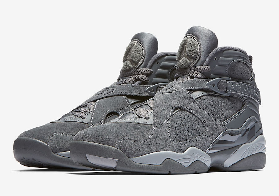 wholesale dealer a9a2f 12ed7 Air Jordan 8 Cool Grey
