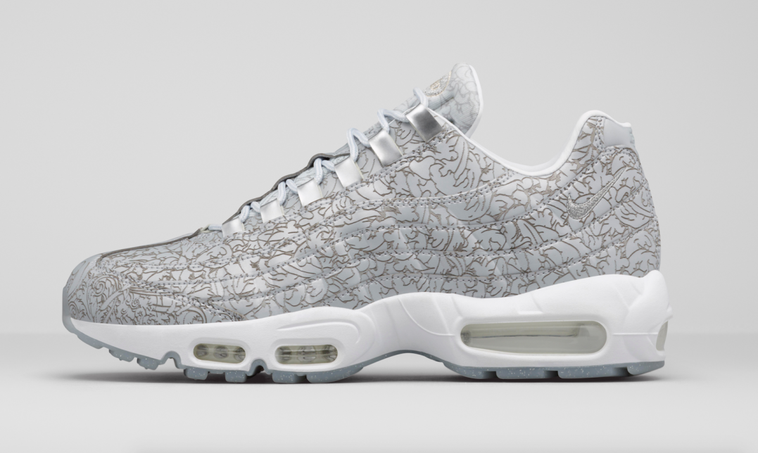 The iconic Nike Air Max 95 is celebrating its 20th anniversary this year,  and for this momentous occasion, Nike utilizes the un-oxidizable metallic  element, ...