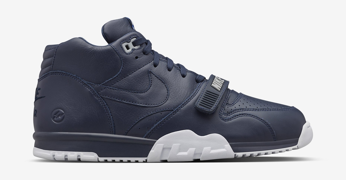 BUY Fragment Design X Nike Air Trainer 1 Mid US Open Blue