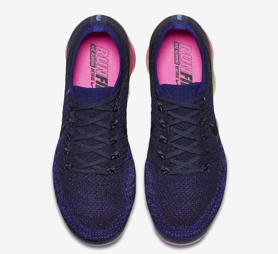 58dfb32ec53 ... CDG x Nike Air VaporMax Flyknit Be True Deep Royal Blue Pink Blast  883275  latest Another Look At The Nike Air VaporMax Be True  pretty cheap Nike  Air ...