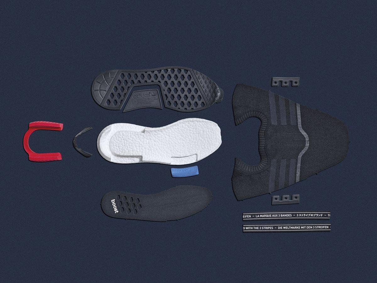 Adidas NMD R1 PrimeKnit OG Runner BlackRedBlue
