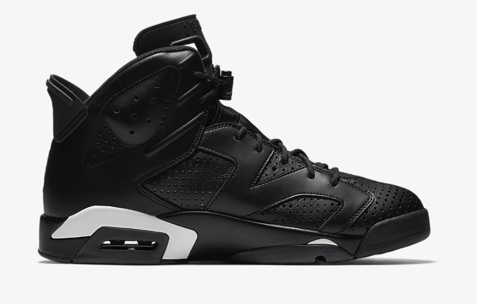 A brand new colorway of the Air Jordan 6 will be closing out 2016. The  colorway will be known as the Black Cat and features an all-black leather  upper with ...