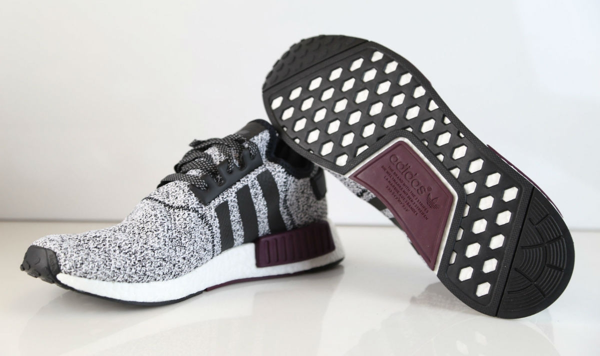 undefeated x new styles 100% high quality Adidas Nmd R1 White Burgundy Champs Exclusive