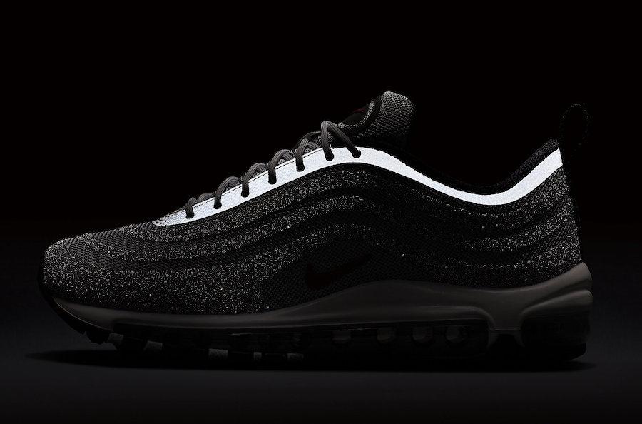 air max 97 silver black