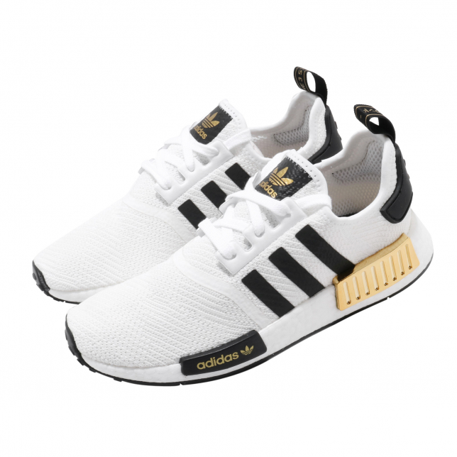 Adidas Nmd R1 Cloud White Core Black Gold Metallic
