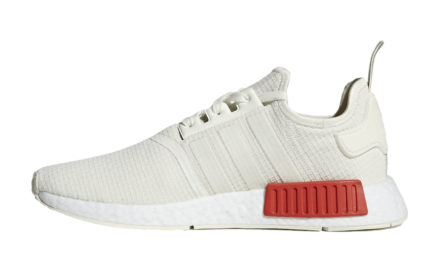 BUY Adidas NMD R1 Off White Lush Red