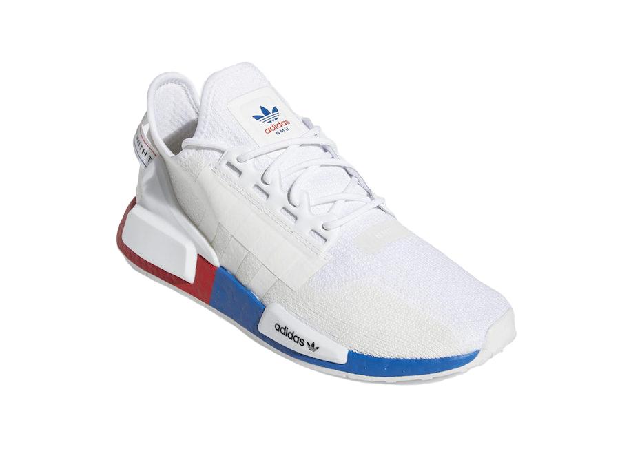 nmd r1 v2 shoes white orange