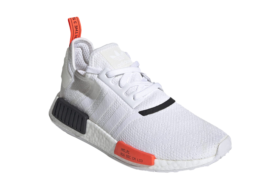 Buy Adidas Nmd R1 White Solar Red Kixify Marketplace