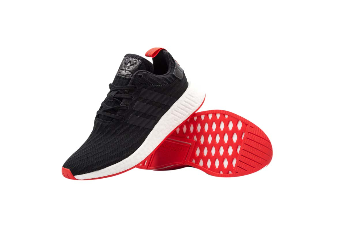 BUY Adidas NMD R2 Core Black Red