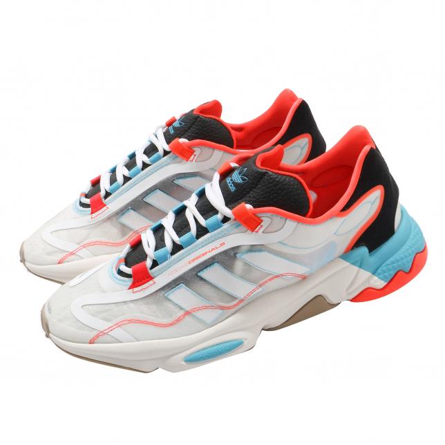 Adidas Ozweego Pure Cloud White Bright Cyan Solar Red