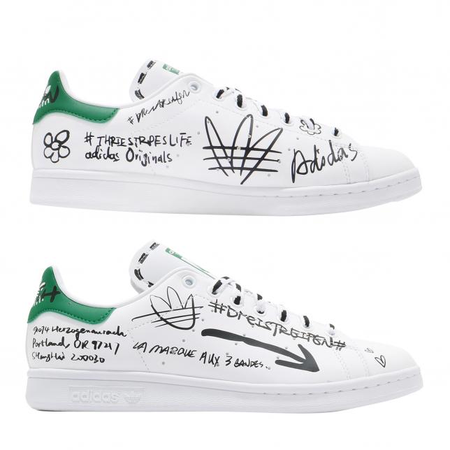 Adidas Stan Smith Footwear White Green
