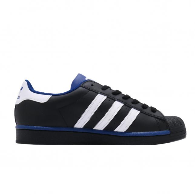 Adidas Superstar Core Black Footwear White Collegiate Royal