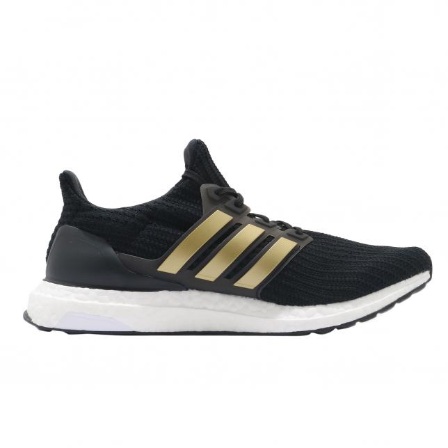Adidas Ultra Boost 4.0 Dna Core Black Gold Metallic Footwear White