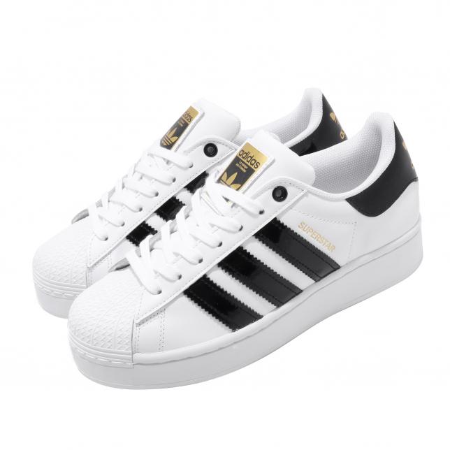 Adidas Wmns Superstar Bold Cloud White Core Black Metallic Gold