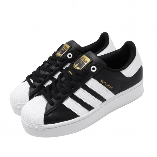 Adidas Wmns Superstar Bold Core Black White Gold Metallic