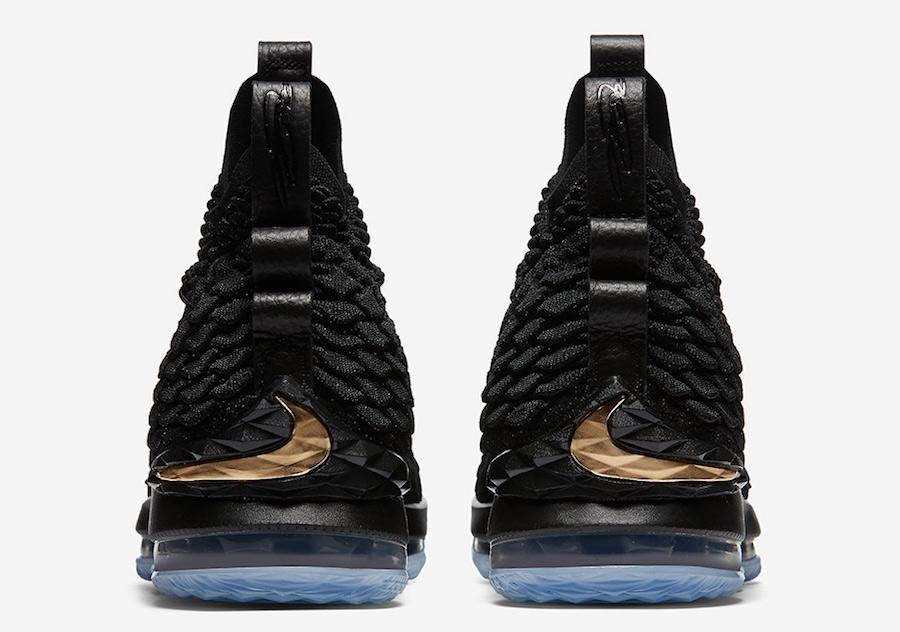 54df822e6bda BUY Nike LeBron 15 Black Metallic Gold