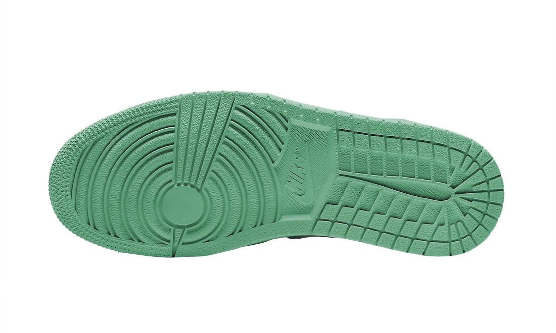 Air Jordan 1 Low White Lucky Green Black