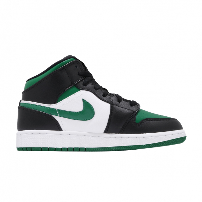 Air Jordan 1 Mid Gs Black Pine Green