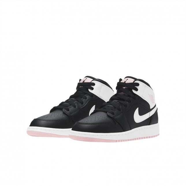 Air Jordan 1 Mid Gs Black White Arctic Punch