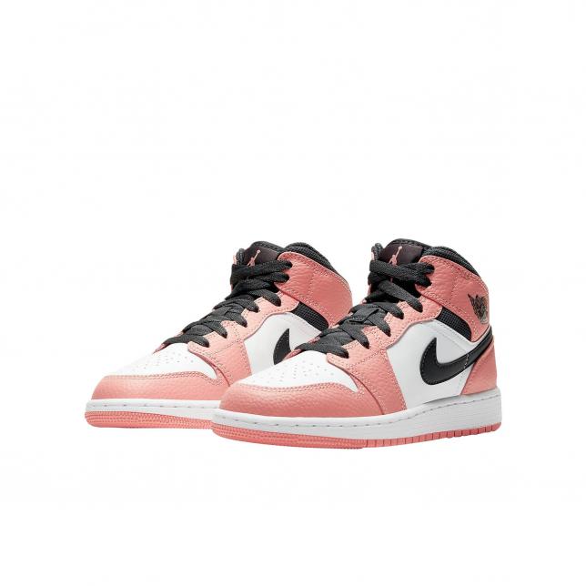 Air Jordan 1 Mid Gs Pink Quartz