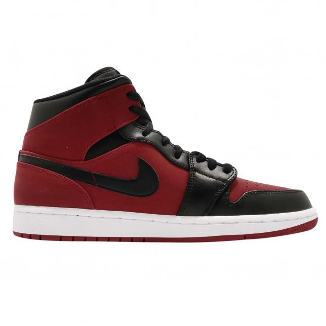 BUY Air Jordan 1 Mid Gym Red Black
