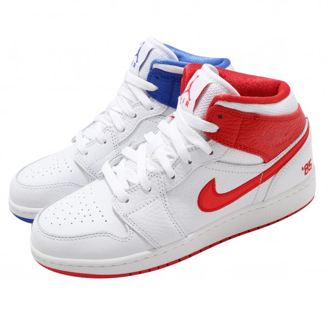 Air Jordan 1 Mid Se Gs White Chile Red