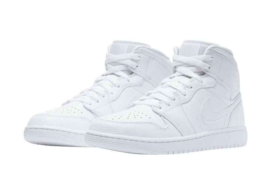 Air Jordan 1 Mid Triple White 2020