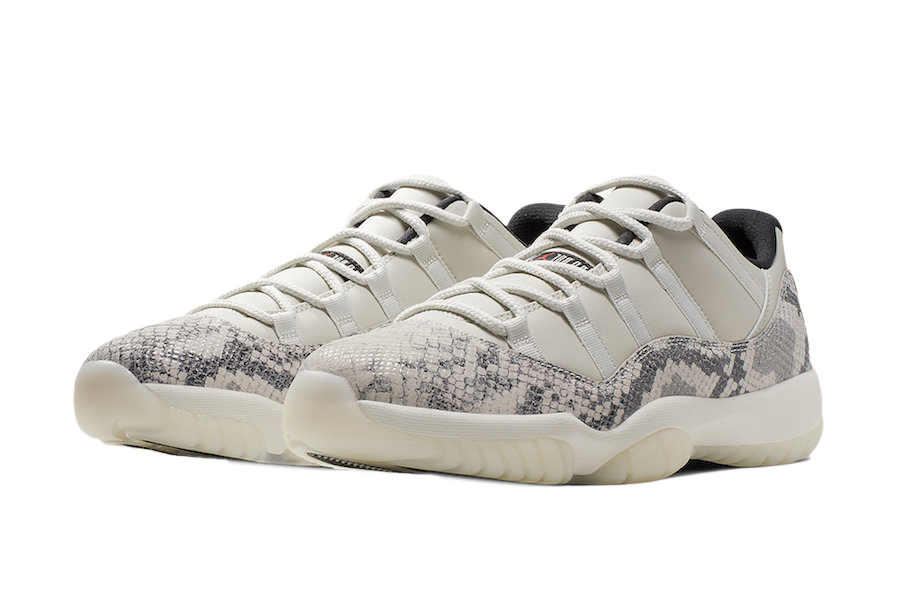 nike air jordan 11 low snakeskin light bone